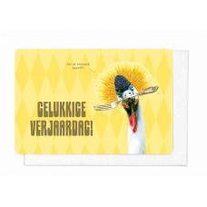 Wenskaart met kalkoen - Gelukkige verjaardag! (1882)